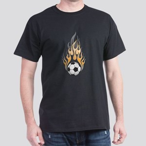 Soccer Ball & Flame Dark T-Shirt