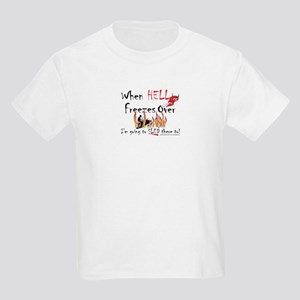 Hell Freezes With the Devil Kids Light T-Shirt