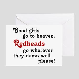 Goodgirls & Redheads Greeting Card