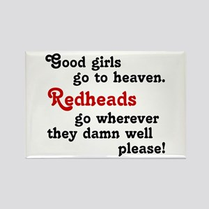 Goodgirls & Redheads Rectangle Magnet