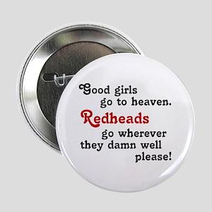 """Goodgirls & Redheads 2.25"""" Button"""