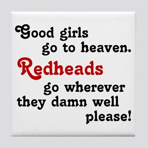 Goodgirls & Redheads Tile Coaster