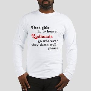 Goodgirls & Redheads Long Sleeve T-Shirt