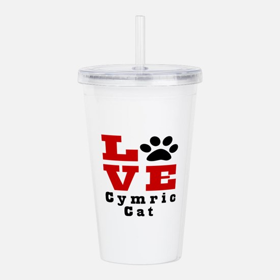 Love cymric Cat Acrylic Double-wall Tumbler