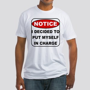 Put Myself in Charge Fitted T-Shirt