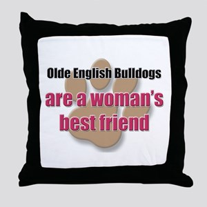 Olde English Bulldogs woman's best friend Throw Pi