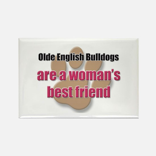 Olde English Bulldogs woman's best friend Rectangl