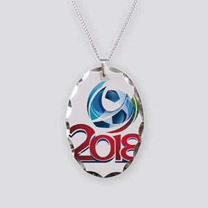Russia World Cup 2018 Necklace Oval Charm
