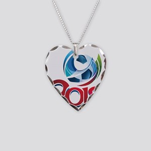 Russia World Cup 2018 Necklace Heart Charm