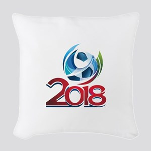 Russia World Cup 2018 Woven Throw Pillow