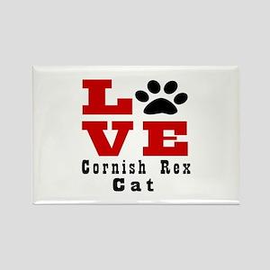 Love cornish rex Cat Rectangle Magnet