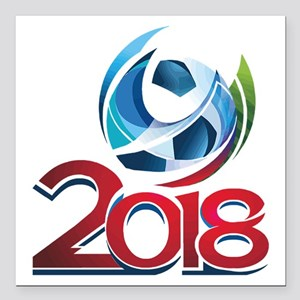 """Russia World Cup 2018 Square Car Magnet 3"""" x 3"""""""
