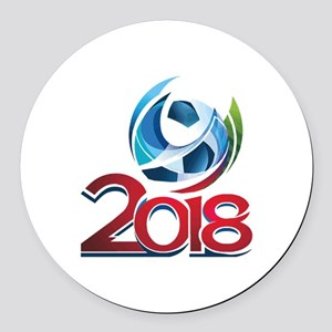 Russia World Cup 2018 Round Car Magnet