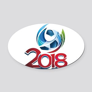 Russia World Cup 2018 Oval Car Magnet