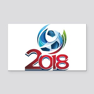 Russia World Cup 2018 Rectangle Car Magnet