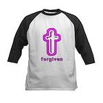 Forgiven Cross Christian Kids Baseball Jersey