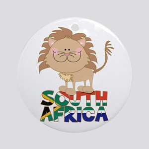 South Africa Lion Ornament (Round)