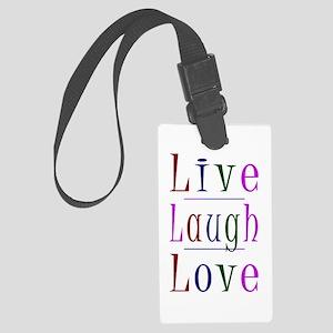Live Laugh Love Luggage Tag