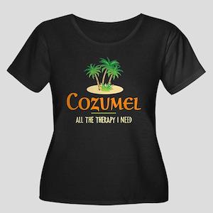 Cozumel Therapy - Women's Plus Size Scoop Neck Dar