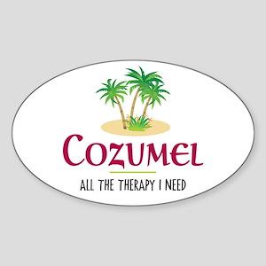 Cozumel Therapy - Oval Sticker