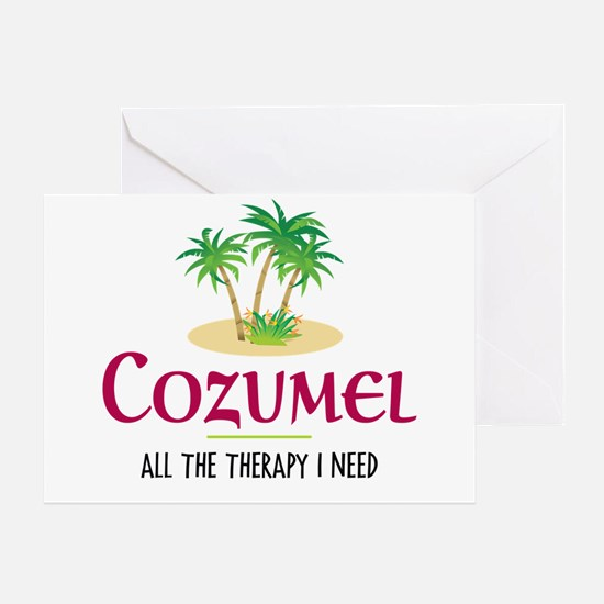 Cozumel Therapy - Greeting Card