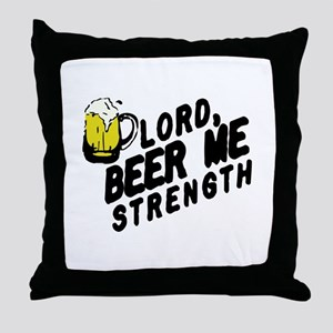 beer me Throw Pillow