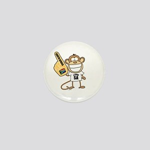 South Africa Monkey Mini Button