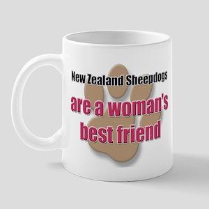 New Zealand Sheepdogs woman's best friend Mug