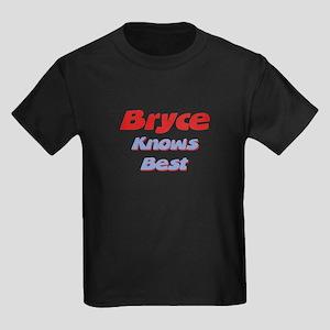 Bryce Knows Best Kids Dark T-Shirt
