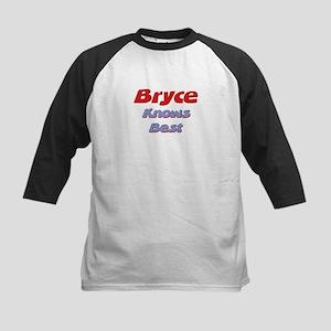 Bryce Knows Best Kids Baseball Jersey