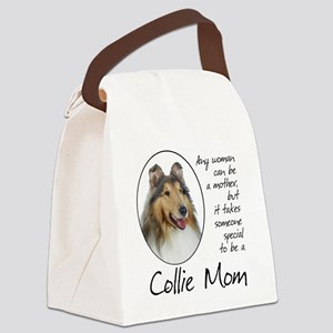 Collie Mom Canvas Lunch Bag