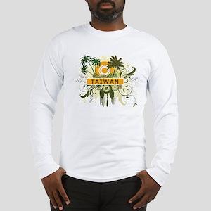 Palm Tree Taiwan Long Sleeve T-Shirt