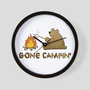 Gone Campin' Wall Clock