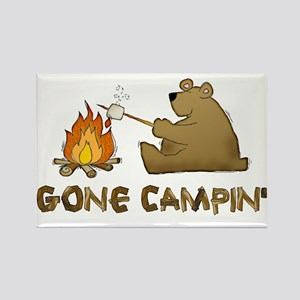 Gone Campin' Rectangle Magnet