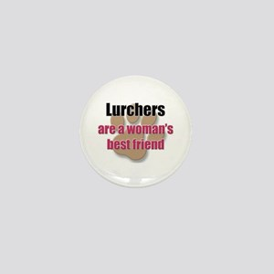 Lurchers woman's best friend Mini Button