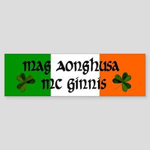 McGinnis in Irish & English Bumper Sticker