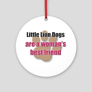 Little Lion Dogs woman's best friend Ornament (Rou