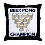 Beer Pong Champion Throw Pillow