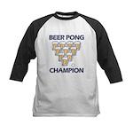 Beer Pong Champion Kids Baseball Jersey