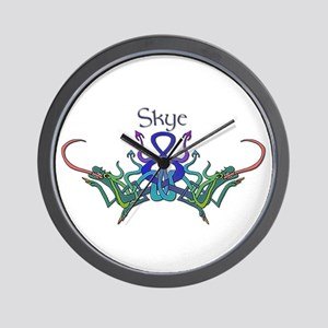 Skye's Celtic Dragons Name Wall Clock