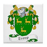 Troup Family Crest Tile Coaster