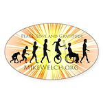 Mike Welch SuperFan Club Oval Sticker