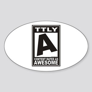Rated Awesome Oval Sticker