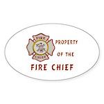 Fire Chief Property Sticker (Oval 50 pk)