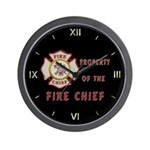 Fire Chief Property Wall Clock