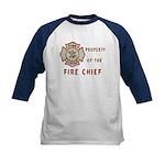 Fire Chief Property Kids Baseball Jersey