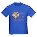 Fire Chief Property Kids Dark T-Shirt