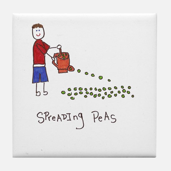 Cute Yard work Tile Coaster