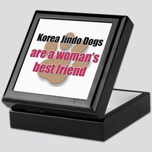 Korea Jindo Dogs woman's best friend Keepsake Box