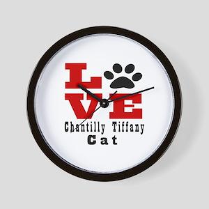 Love chantilly tiffany Cat Wall Clock